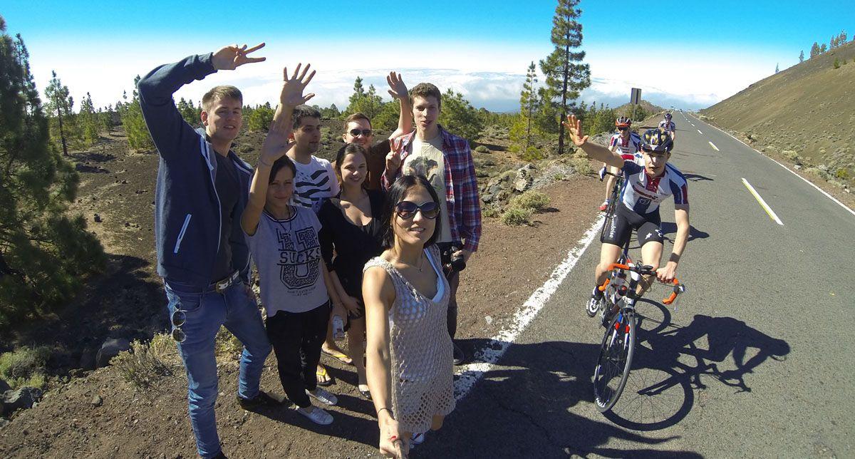 велосипедисты на Тейде