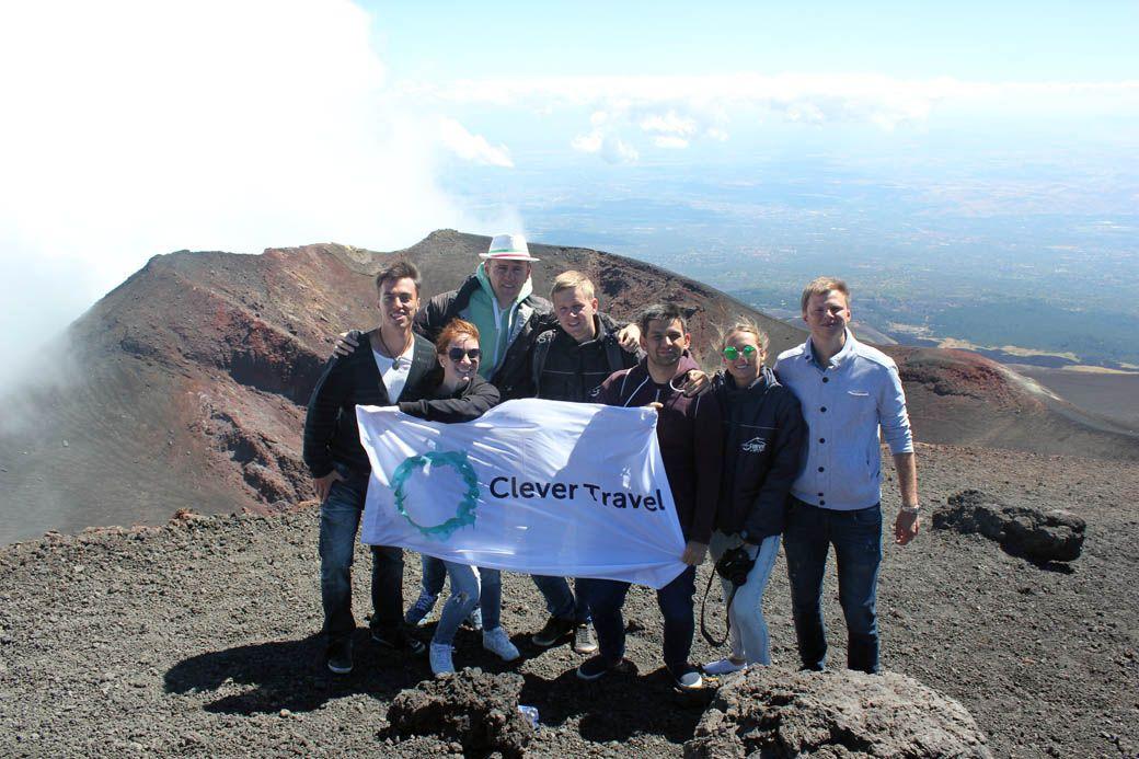 Вид с кратера Этны с организованного нами группового тура на Сицилию