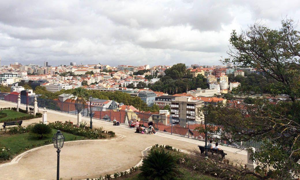 Обзорная площадка фозле фуникулера Глория в Лиссабон