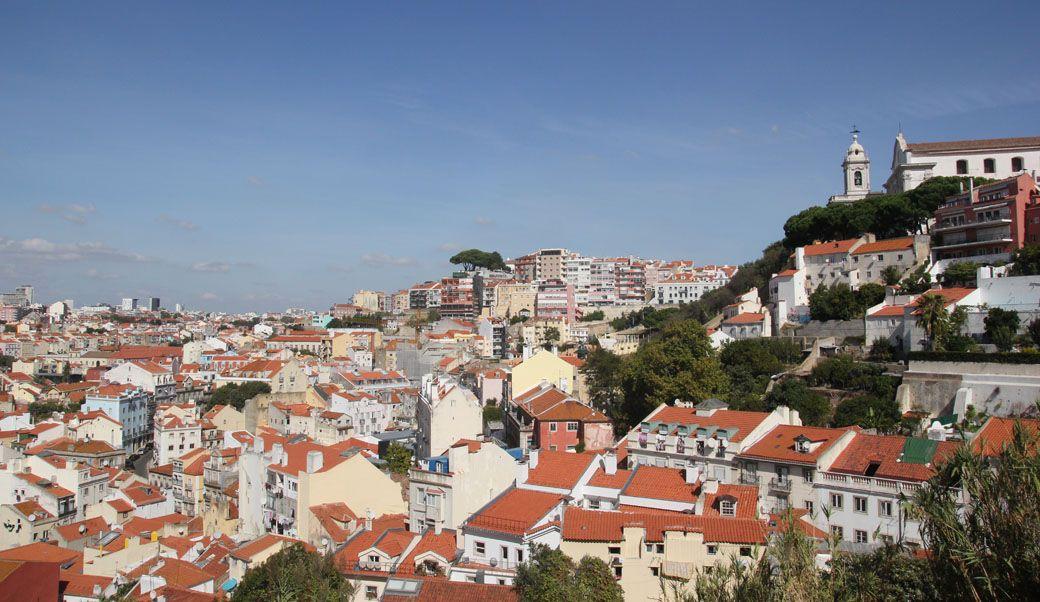 вид с замка в Лиссабоне