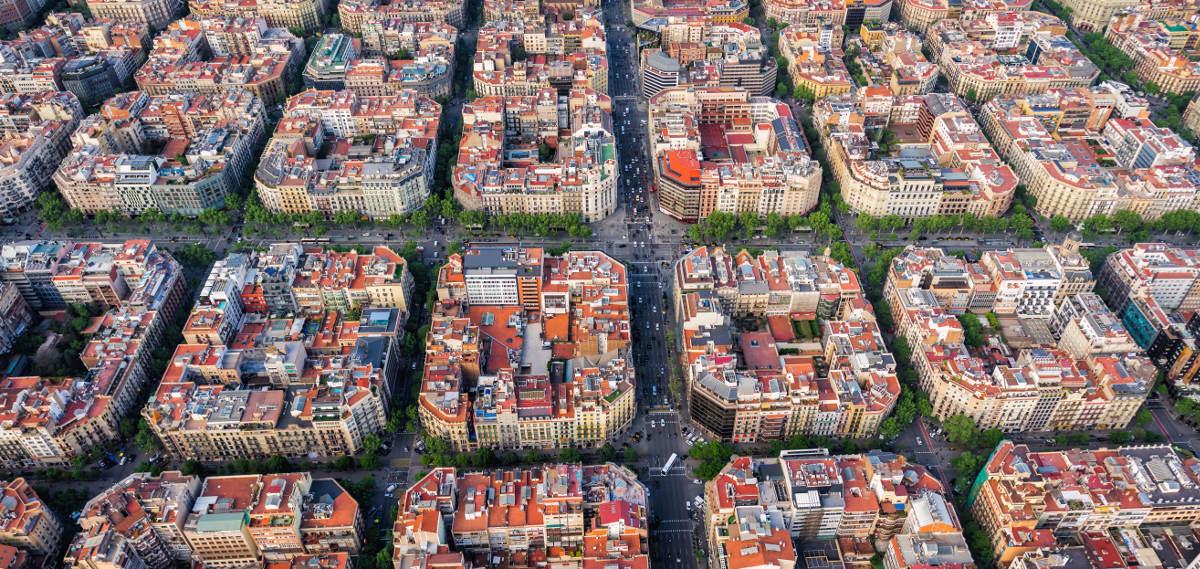 Дрон над Барселоной