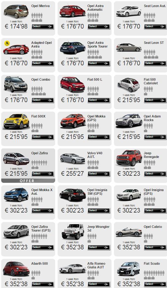 Цены на ренду авто на канарах