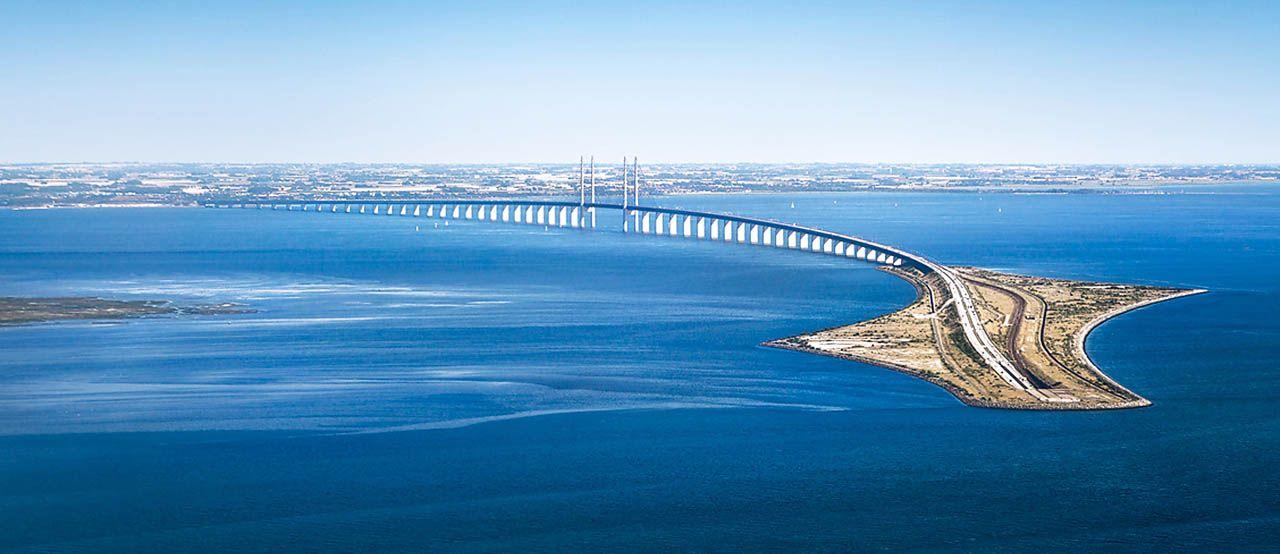 Эресуннский мост в Копенгагене