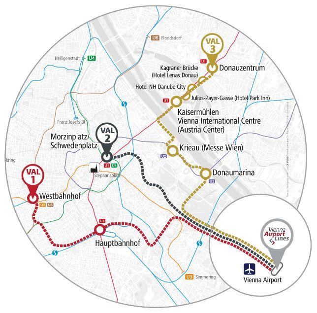 маршрут автобусов vienna airport bus
