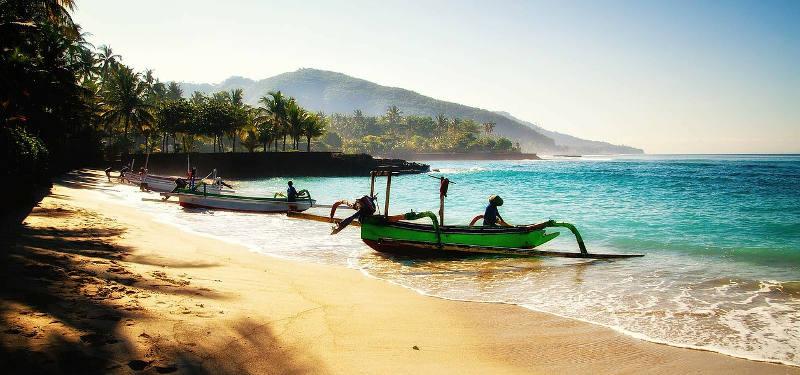 пляж север бали