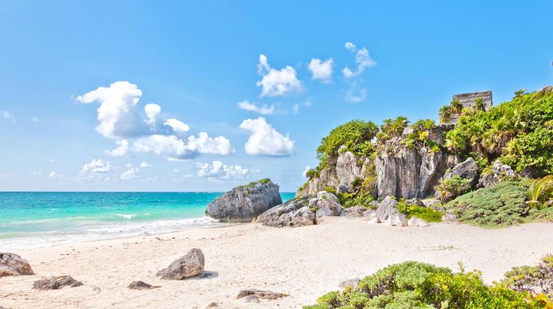 Пляж Тулум Мексика