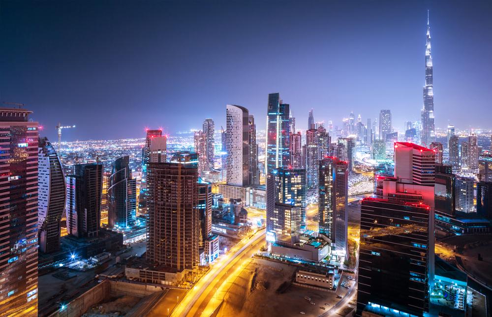 Дубай панорама